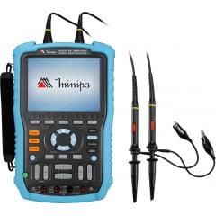 Osciloscópio / Multímetro Portátil 100MHz-2c-1GS/s-CAT III-USB - Minipa - MSCOPE-100