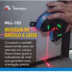 Medidor de Ângulo Laser Minipa MLL-102
