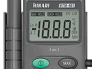 Termo-Higro-Decib-Lux  Hikari - HTM-401 - C/ CERTIFICADO DE CALIBRAÇÃO