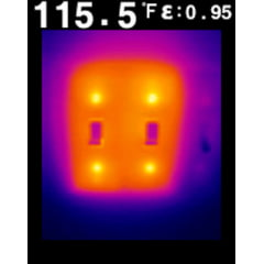 Câmera Térmica Pontual 4.800 pixels (–10°C +150°C ) - Flir TG-135