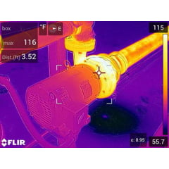 Câmera Térmica 76.800 pixels c/ MSX e WIFI (-20 °C a 120 °C - 0 °C a 650 °C ) - Flir E-75