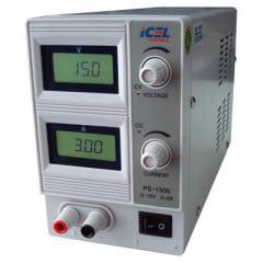 Fonte de Alimentação DC Assimétrica (15V/3A-Simples) - PS-1500