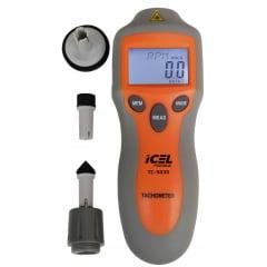Tacômetro Óptico/Contato c/ Mira Laser, TC-5035