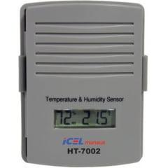 Termo-Higrômetro-Relógio c/ Sensor Remoto Máx/Mín (Temp. Int/Ext e UMIDADE EXT) - HT-7100