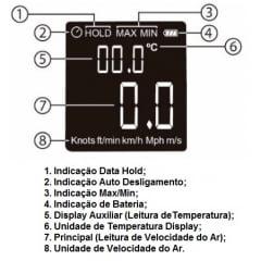 Mini Termo-Anemômetro - Hikari - HDA-910