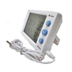 Termo-Higrômetro-Relógio Máx/Mín (Temp Int/Ext) - Minipa - MT-241A