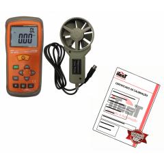 TERMO-ANEMÔMETRO - AN-3070 C/ Certificado De Calibração Rastreado RBC