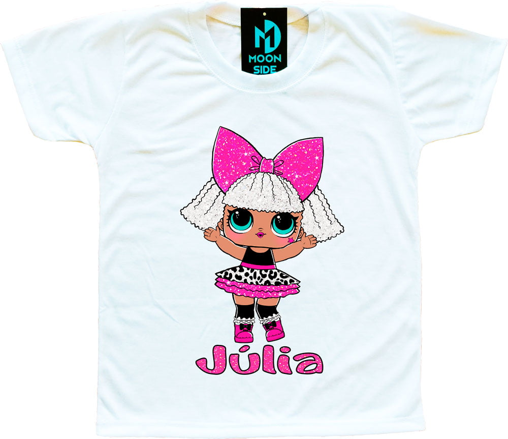 Camiseta Boneca Lol Surprise Diva - Série Glitter - Personalizada