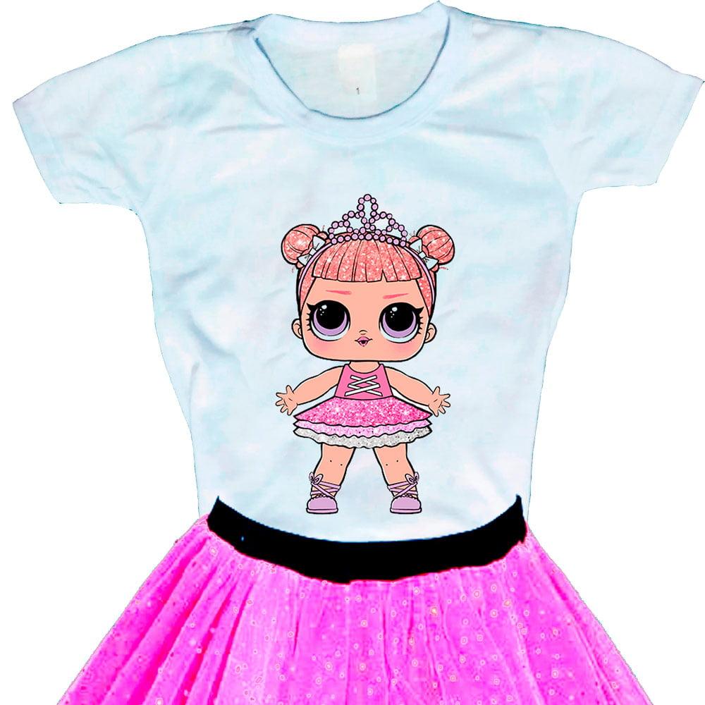 Camiseta Boneca Lol Surprise Center Stage - Série Glitter