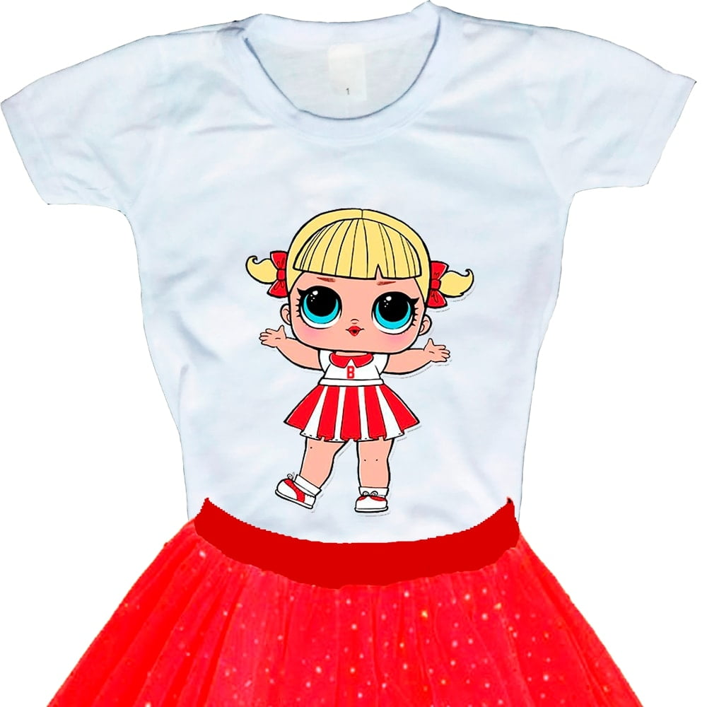 Camiseta Boneca Lol Surprise Cheer Captain