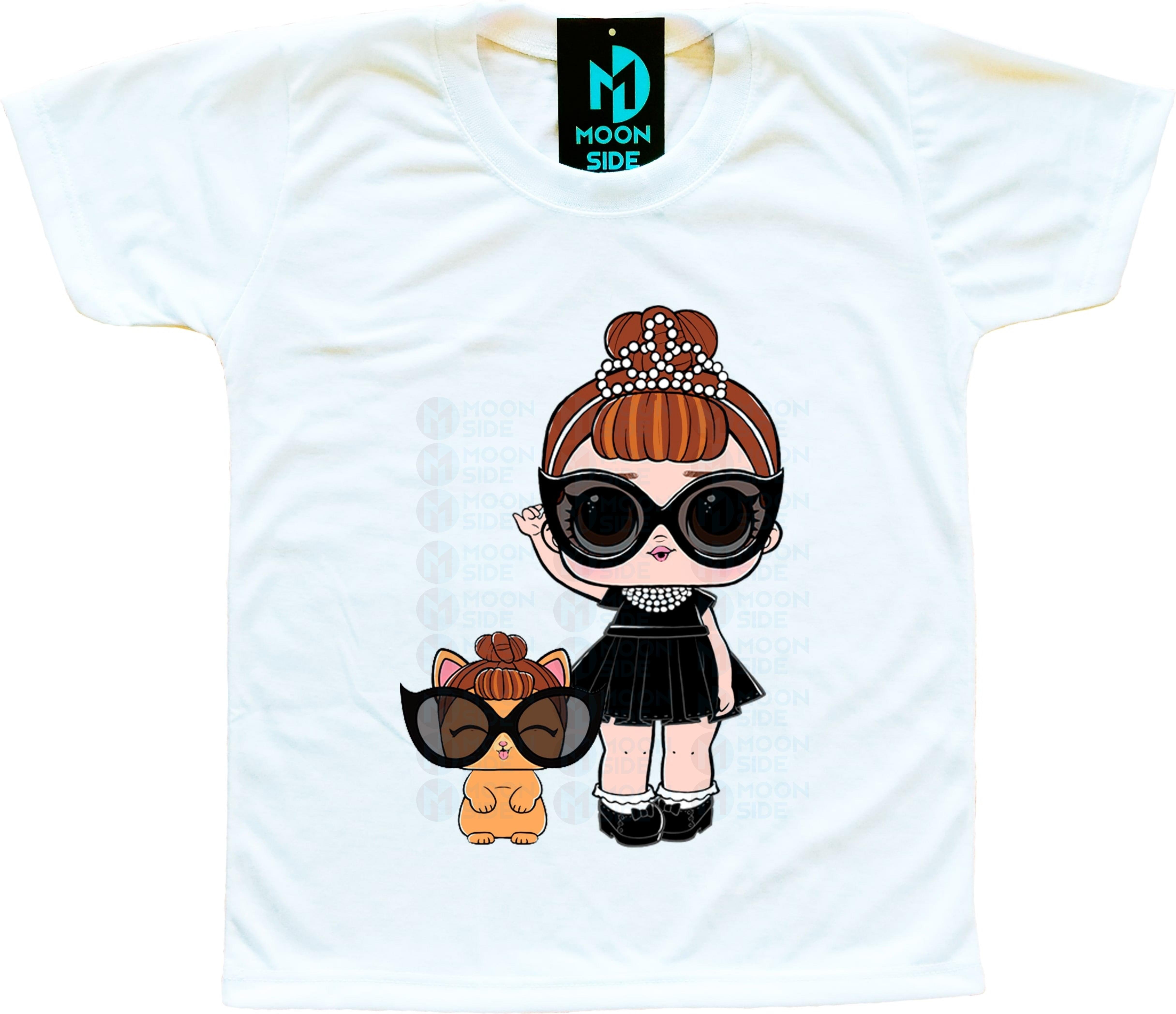 Camiseta Lol Surprise It Baby e Pet It Kitty