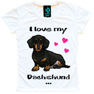 Camiseta Love My Pet  - Dachshund