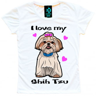 Camiseta Love My Pet - Shih-tzu