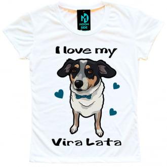 Camiseta Love My Pet - Vira-lata