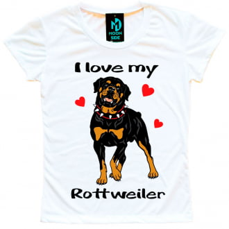Camisetas Love My Pet - Rottweiler