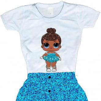 Camiseta Boneca Lol Surprise Miss Baby - Série Glitter