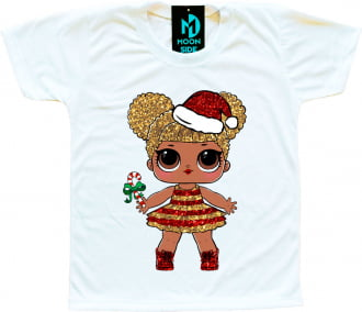 Camiseta Boneca Lol Surprise Queen Bee (Especial de Natal)