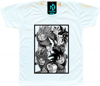 Camiseta Dragon Ball Super Goku Transformações