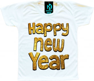 Camiseta Infantil Happy New Year