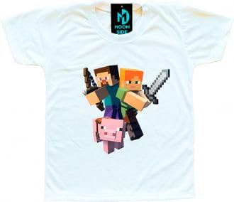 Camiseta Infantil Minecraft Modelo 5