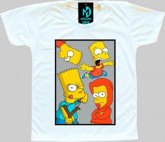 Camiseta Infantil Os Simpson's Bart Simpson Quadro