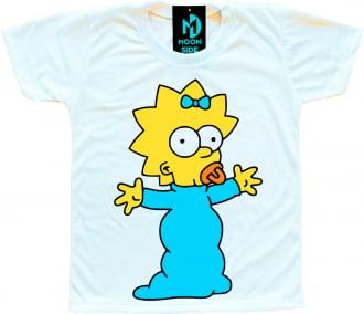 Camiseta Infantil Os Simpson's Maggie Simpson