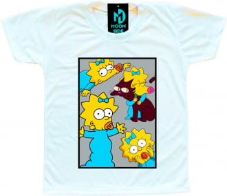 Camiseta Infantil Os Simpson's Maggie Simpson Quadro