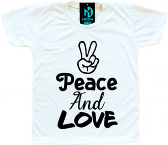 Camiseta Infantil Peace and Love
