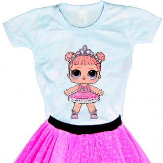 Camiseta Boneca Lol Surprise Center Stage - Série Glitter
