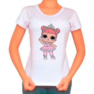 Camiseta Boneca Lol Surprise Center Stage - Adulto