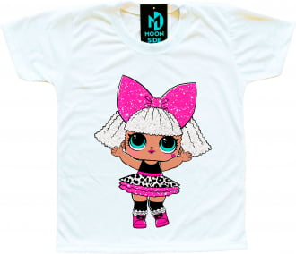 Camiseta Boneca Lol Surprise Diva - Série Glitter