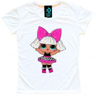 Camiseta Boneca Lol Surprise Diva - Série Glitter - Adulto
