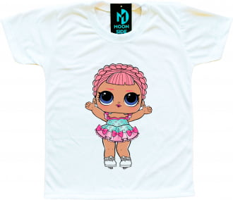 Camiseta Boneca Lol Surprise Ice Sk8ter
