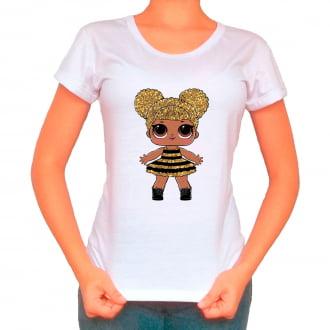 Camiseta Boneca Lol Surprise Queen Bee - Adulto