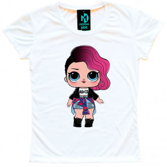 Camiseta Boneca Lol Surprise Rocker - Adulto