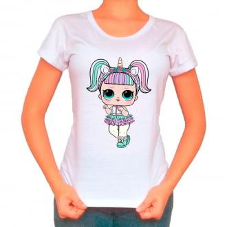 Camiseta Boneca Lol Surprise Unicorn (Unicórnio) - Adulto