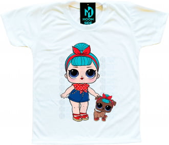 Camiseta Lol Surprise B.B. Bop e Pet B.B Pup