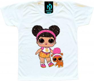 Camiseta Lol Surprise Hoops e Pet Hoops D.O.G.G