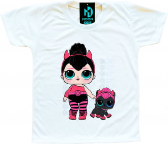 Camiseta Lol Surprise Spice e Pet Spicy Kitty