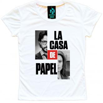 Camiseta La Casa De Papel Professor e Raquel