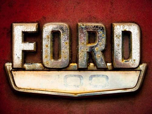 Placa Decorativa Vintage Carros Ford 700 Retro PDV200