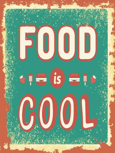 Placa Decorativa Vintage Retro Food Cool PDV087