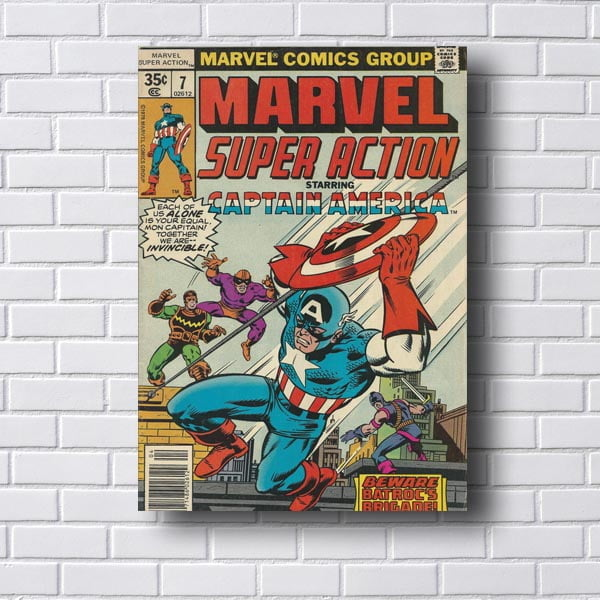 Quadro Decorativo Marvel Captain America