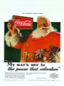 Placas Decorativas Coca Cola Papai Noel PDV378