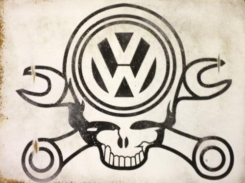 Placa Decorativa Vintage Carros Volks Parts PDV193