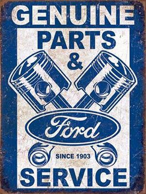 Placa Decorativa Vintage Retro Ford Genuine Parts Service PDV091