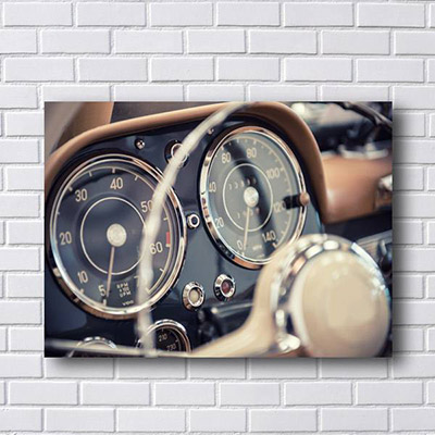 Quadro Decorativo de Carro Conta Giro Antigo