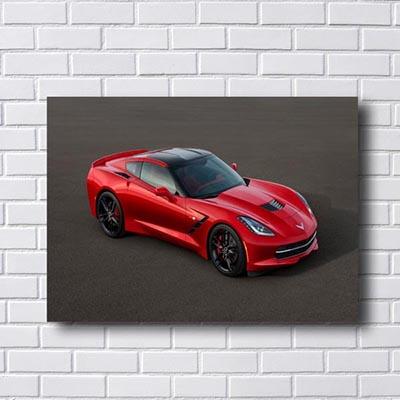 Quadro Porsche Vermelho