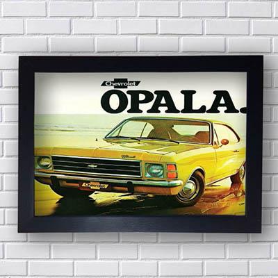 Quadro Vintage Opala Amarelo