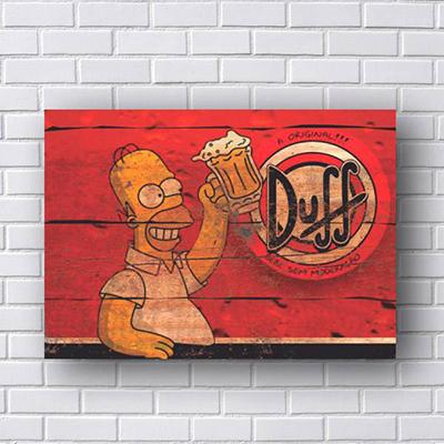 Placa Homer Duff A original